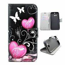 Flip Card Wallet Soft TPU Inside Leather Cover Pouch Case For HTC ONE 2 2014 M8