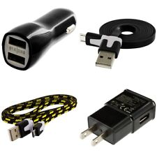 Wall & Car Charger 2X 3FT Micro USB Data Charging Cable for Phones Tablets