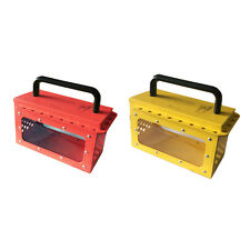 MILE Industrial Safety Visible Group Lockout Box with 20 padlock eyelets