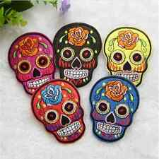 Punk Vintage DIY Embroidered Cloth Iron On Patch Sew Motif Applique skull  FT