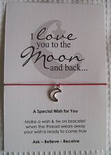 Wish String Bracelet - I love You to the Moon and Back