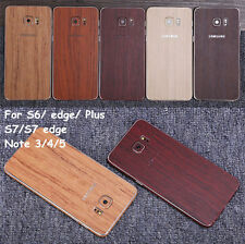 Textured Wood Effect Skin For Samsung Wrap Cover Sticker Protector Case Decal