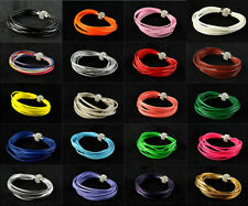 1Pcs Leather Wrap Wristband Cuff Punk Magnetic Rhinestone Buckle Bracelet Bangle