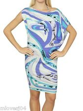Emilio Pucci Multicolor Asymmetric Printed Viscose Jersey Dress BNWT 8 12 40 44