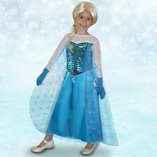 Kids Snow Princess Frozen Ice Queen Girls Fancy Dress Child Party Outfit Costume