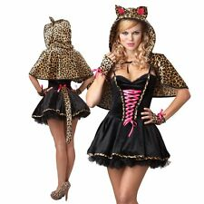 Adult Frisky Kitty Cat Woman Animal Costume Leopard Fancy Dress Party Outfit