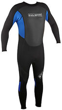 U.S. US DIVERS MENS FULL LENGTH 2/3mm NEOPRENE WETSUIT BLACK/BLUE ALL SIZES