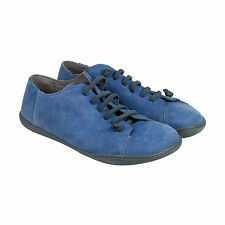 Camper Peu Mens Blue Leather Lace Up Sneakers Shoes