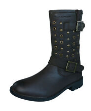 Hush Puppies Lizzie Girls Leather Boots / Shoes - Brown