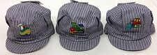 Mini Mobiles kids Striped Train Conductor w/Patch Stretch-Back Cap Hat Beanie