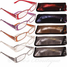 Eye Time Reading Glasses Ladies Specs Case +1 +1.5 +2 +2.5 +3 ET1087 Pearl