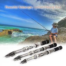 Carbon Fiber Fishing Rod Retractable Fishing Pole Travel Fishing Rod Kit W4P3