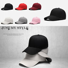 Baseball Cap Adjustable Classic New Cotton Summer Sun 5 Panel Mens Ladies Hat