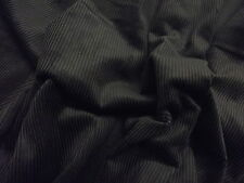Cotton CORDUROY Fabric Material 11 Wale - BLACK