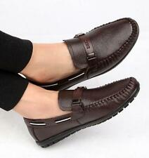 Mens slip on loafer driving shoes flat moccasin gommino fashion