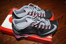 NIKE WOMEN'S SHOX SUPERFLY R4 RUNNING SHOES SNEAKERS BLACK PINK 653479 001