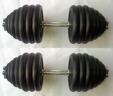 100KG Dumbbell Set, up to 2 x 50kg, Spinlock Bars, Iron Weights / Discs / Plates