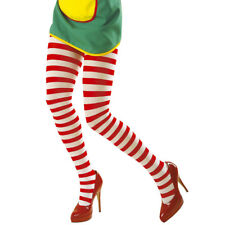 Tights red-white Pantyhose ringed Women's tights Pantyhose