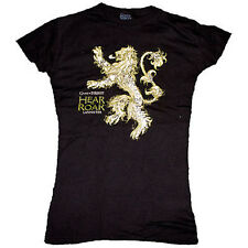 Game of Thrones - Lannister House Hear Me Roar Lion - Female Black Tee T-Shirt