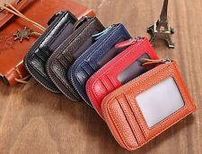 Mens/Womens Fashion Mini Wallet ID Credit Cards Holder Purse Synthetic Leather