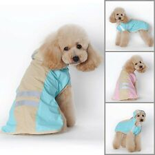 Waterproof Dogs Pets Puppy Hooded Raincoat Jumpsuit Jacket Pet Clothes Rainwear