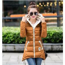 Winter Women Jacket Warm Down Cotton Coats Slim Hooded Parka Outerwear 6 Color