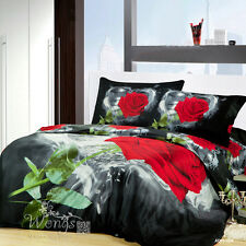 Rose 100% Cotton Queen King Bed Doona Covers Fitted Sheets New Quilt Covers Set