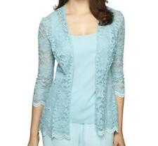 Alex Evenings Mother Of Bride Groom Women's Shimmering Lace jacket&top plus1X 2X