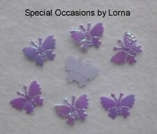 30 Holographic Butterflies Lilac Favours Scrapbooking Cards Embellishments