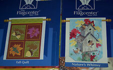 "Fall Garden flags,ass't garden designs,lrg,29"" X 42"",decorative,leaves,birdhouse"