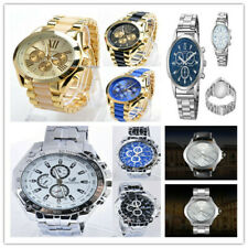 Luxury Men's Watch Analog Sport Stainless Steel Case Quartz Wrist Watch N4U8