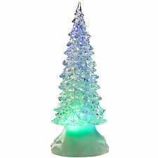 Pre-Lit LED Magical Colour Changing Floating Glitter Christmas Tree/Candle