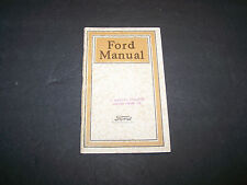 Original 1920 Ford Model T Car & Truck Owners Manual