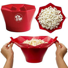 1Pc Silicone Microwave Magic Popcorn Maker Popcorn Container Cooking Tool New