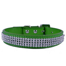 Bling Rhinestone Dog Collar Adjustable Buckle Leather Collar For Dogs SmallTeddy