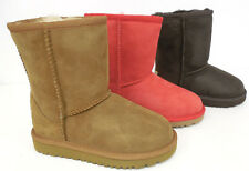 Ugg Australia Kids Classic Short Boots Chocolate or Chestnut 5251 New