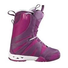 2013 NIB WOMENS SALOMON F2.0 SNOWBOARD BOOTS $270 deep plum purple iris white
