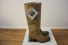 FRYE Womens Jane 14L Stitch Boots NEW Size 6.5 Brown Oiled Suede $348
