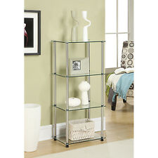 Convenience Concepts Designs2Go Classic Glass 4-tier Tower Shelf