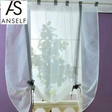 Pastoral Roman Curtains Voile Tab Top Tulle Windows Curtains Sheer Panel H0B7