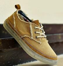 New mens canvas breathable skate board sneaker casual lace up denim shoes