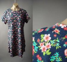 Colorful Bold Floral Print Casual Cotton Blend Plus T-Shirt 191 mv Dress 2XL 3XL