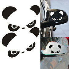 Car Rear View Mirror Back Funny Cartoon Angry Panda Pattern Sticker 3D Reflectiv