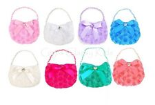 New Small Rose Accented Purse Handbag Flower Girl Princess Pageant Gift Party