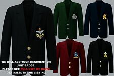 UNIT S-Z ARMY ROYAL NAVY AIR FORCE MENS LADIES REGIMENT BLAZER BUTTONS TO 52""