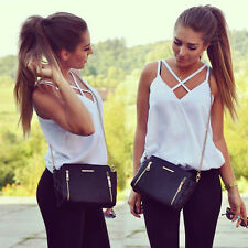 Fashion Women Summer Vest Top Sleeveless Shirts Blouse Casual Tank Tops T-ShirtM