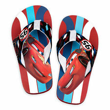Disney Store Cars Lightning McQueen Boys Flip Flops Sandals Size 9/10 13/1