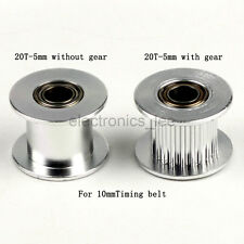 2GT 20T Gear Tooth Aluminum Alloy Pulley 5mm for 3D Printer 10mm Timing Pulley