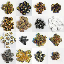 10 x PLASTIC SHANK BUTTONS - Crafts - Sewing - Swirl, Rope, Gold, Bronze, Silver