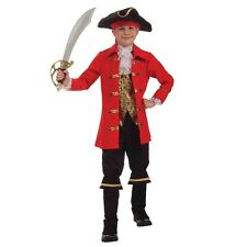Boys Captain Cutlass Pirate Costume Child Buccaneer Halloween Kids Party Outfit